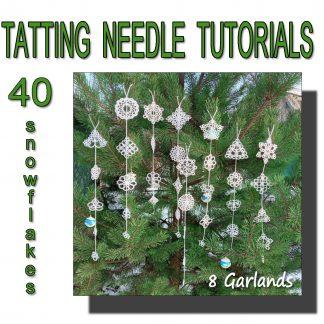 Tatting tutorial eight garlands