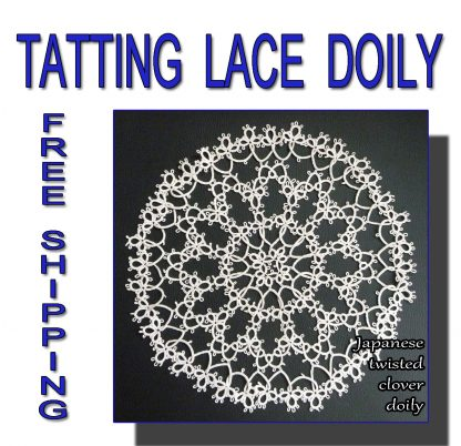 Japanese twisted clover doily