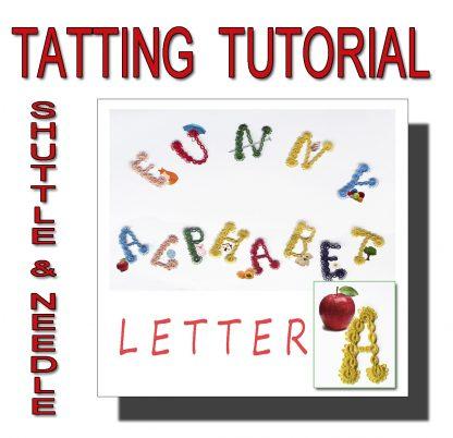 Letter A tatting pattern