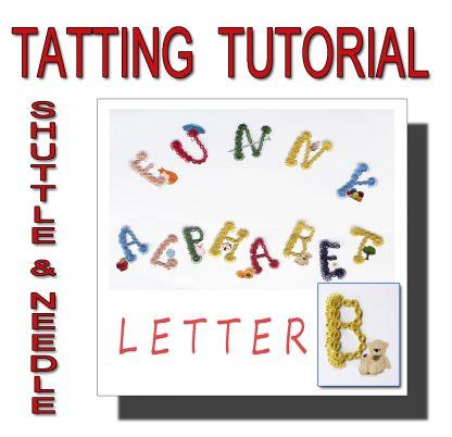 Letter B tatting pattern