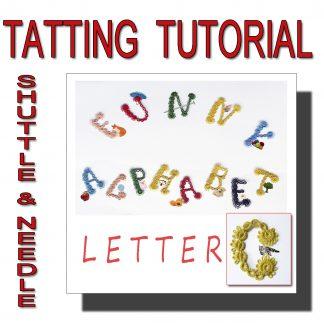 Letter C tatting pattern