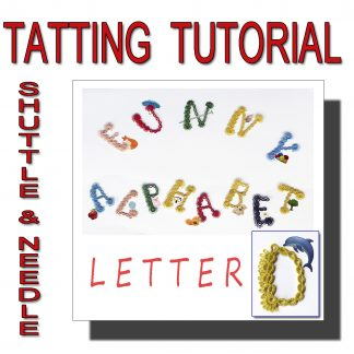 Letter D tatting pattern