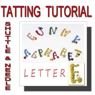 Letter E tatting pattern
