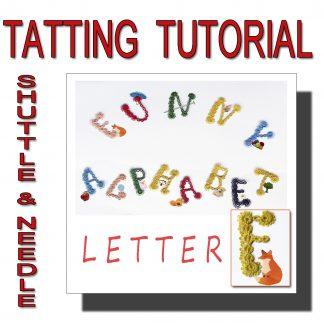 Letter F tatting pattern