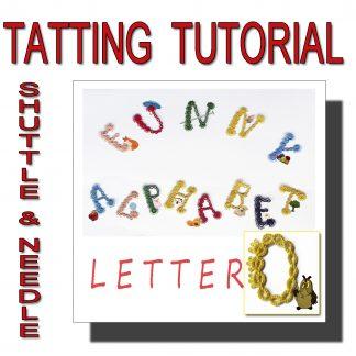 Letter O tatting pattern