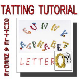 Letter Q tatting pattern