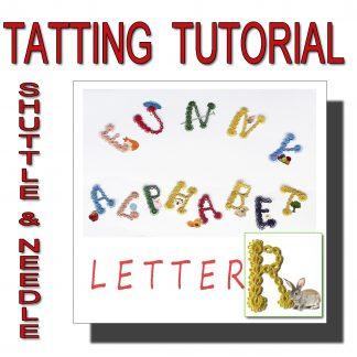Letter R tatting pattern