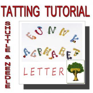 Letter T tatting pattern