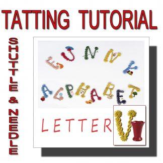 Letter V tatting pattern