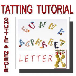 Letter X tatting pattern