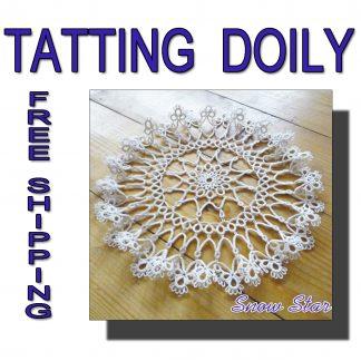 Tatting doily Snow Star