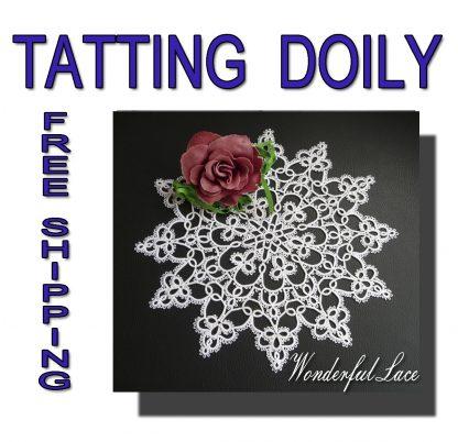 Tatting doily Wonderful Lace