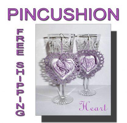 Cute little pincushions Heart
