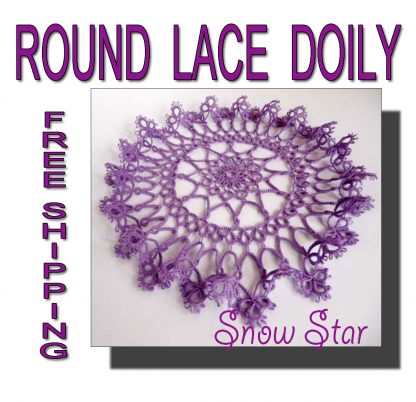 Purple doily Snow Star