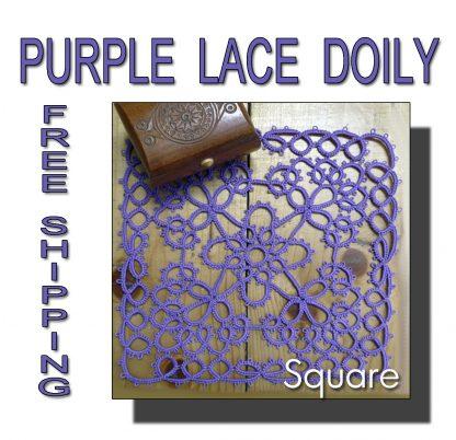 Purple doily Square