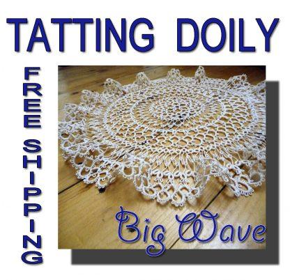 Tatting doily Big Wave