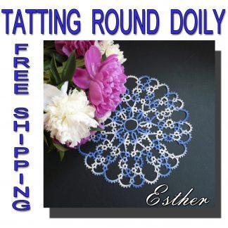 Tatting doily Esther