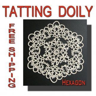Tatting doily Hexagon