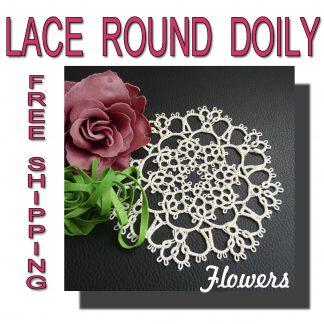 Round doily Flowers