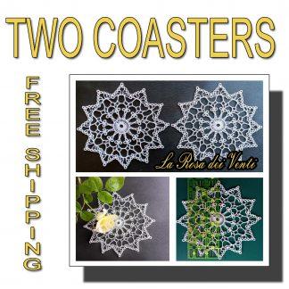 Two wedding coasters La Rosa dei Venti