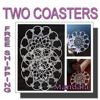 Two wedding coasters Mandalas