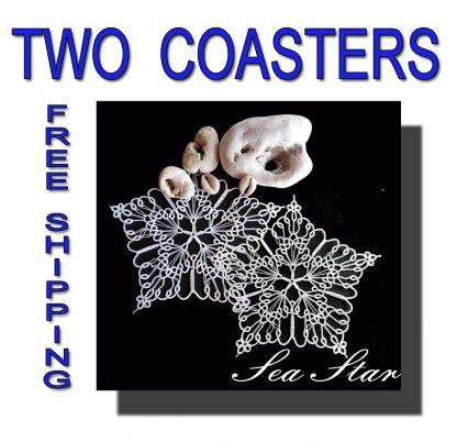 Two wedding coasters Sea Star