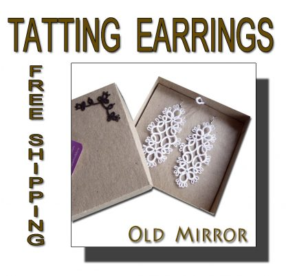 White earrings Old Mirror