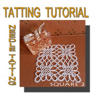 Tatting pattern square second