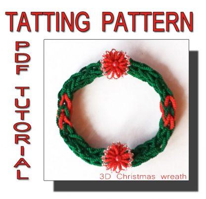 3D Christmas wreath pattern