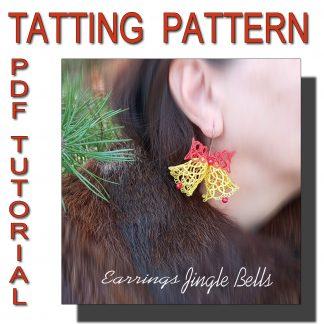 Tatting Pattern Earrings Jingle Bells