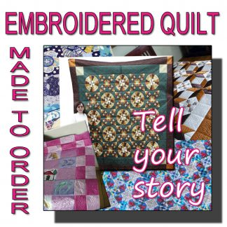 Personalized embroidered quilt